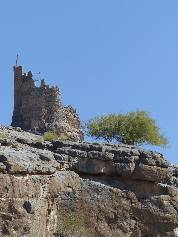 Fort Rogan, Misfat Al Abriyeen, Oman stock images