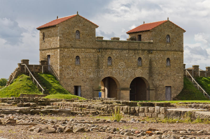 Fort romain d'Arbeia photographie stock