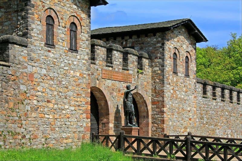 Fort romain de Saalburg images libres de droits
