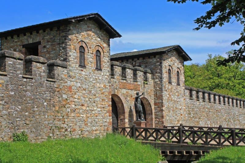 Fort romain de Saalburg photo libre de droits