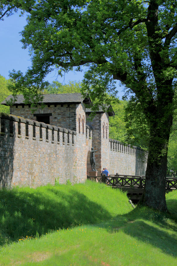 Fort romain de Saalburg image libre de droits
