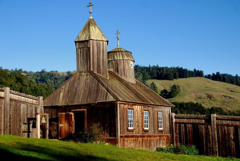 Fort Ross, CA : Chapelle russe au fort Ross photos libres de droits