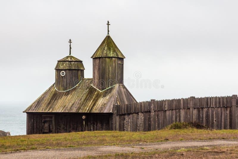 Fort Ross - een Russisch Fort in Noordelijk Californië stock afbeeldingen