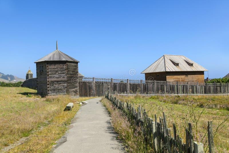 Fort Ross State Historic Park royalty-vrije stock fotografie