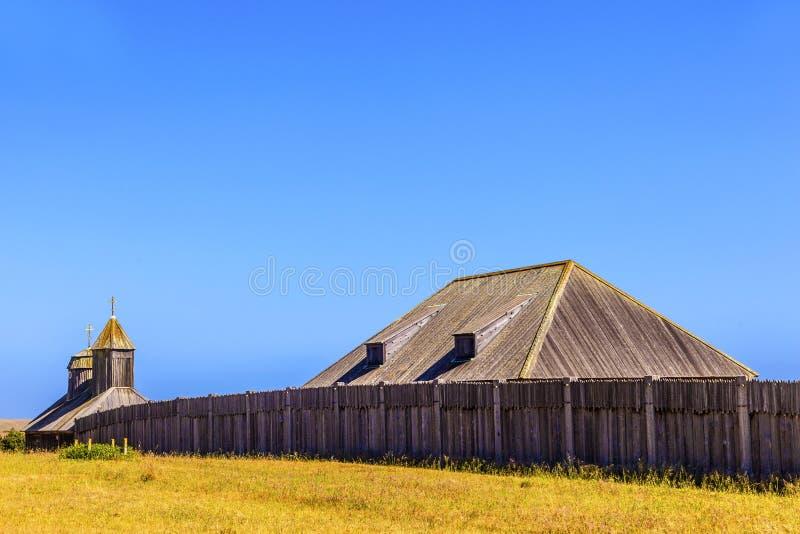 Fort Ross State Historic Park in Provincie Sonoma stock foto