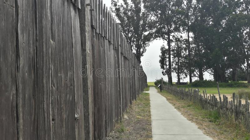 Fort Ross wooden wall stock photography