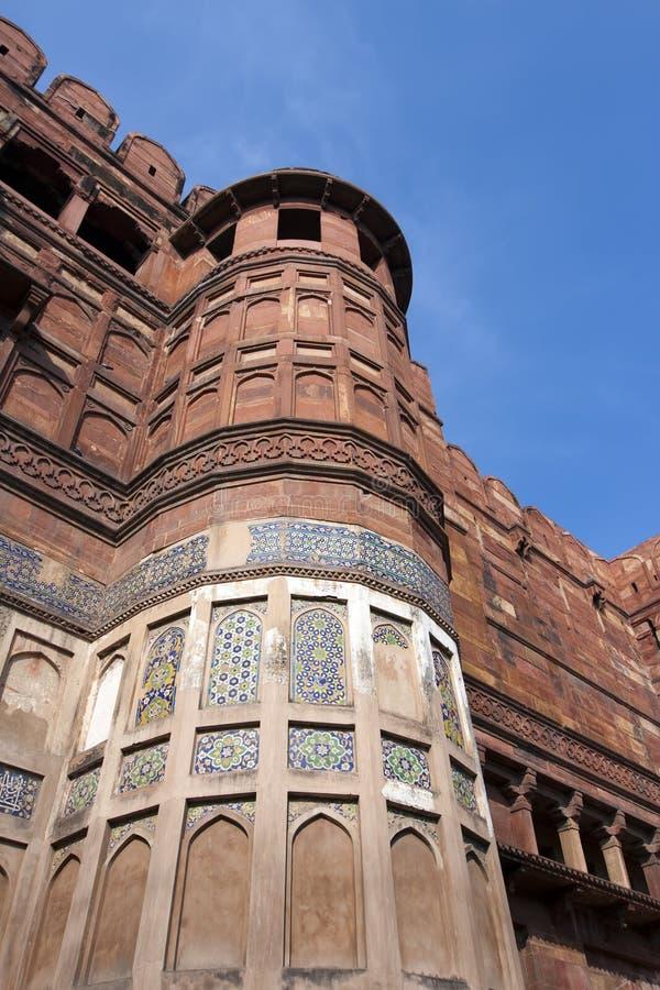 Fort rouge à l'intérieur agra l'Inde photographie stock libre de droits