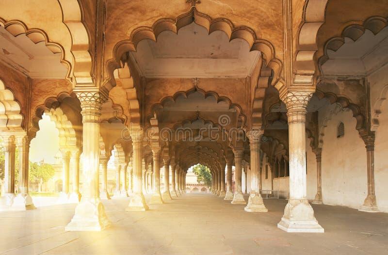Fort rouge situé à Âgrâ, Inde image stock