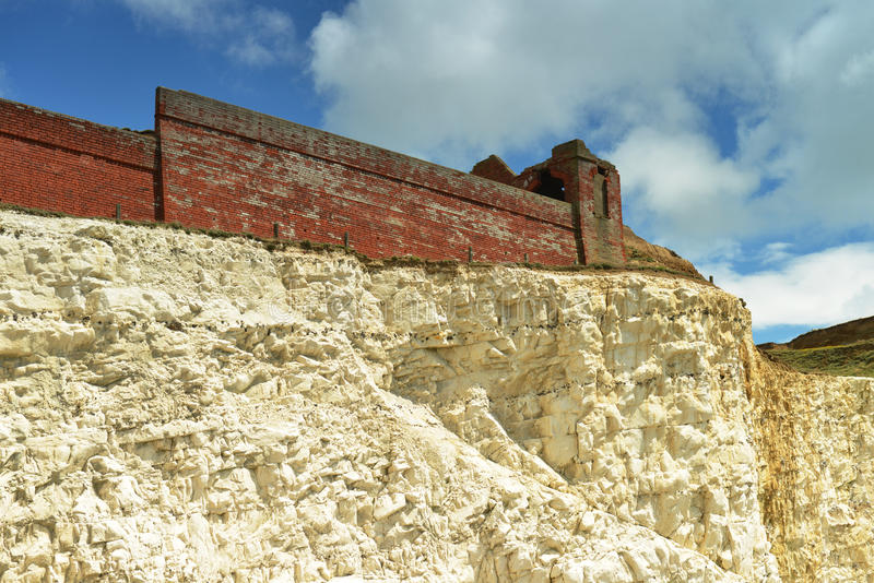 Download Fort ruins on cliff rock stock image. Image of military - 26431235
