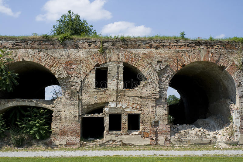 Fort ruiny zdjęcia stock