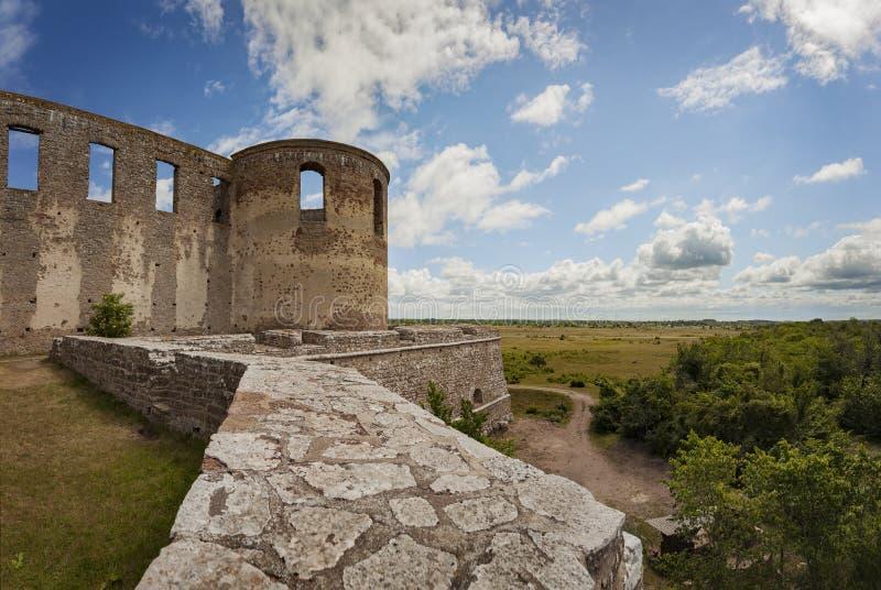 Fort ruiny z ramparts fotografia royalty free