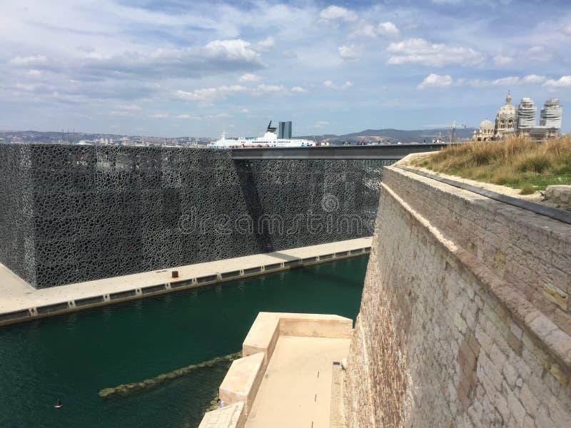 Fort Saint-Jean de mucem de Marseille images libres de droits