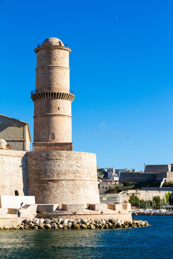 Fort Saint-Jean is a fortification in Marseille. South of France stock photos
