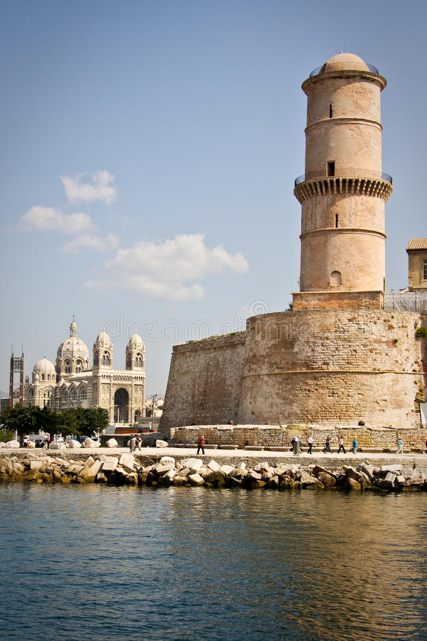 Fort Saint Jean in Marseille, France royalty free stock photo