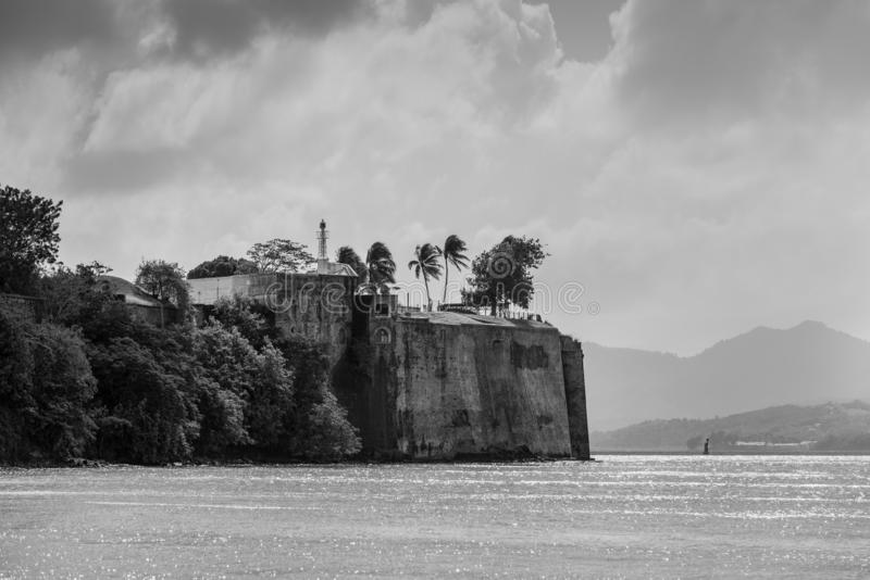 Fort Saint Louis in Fort de France, capital city of Martinique, royalty free stock image