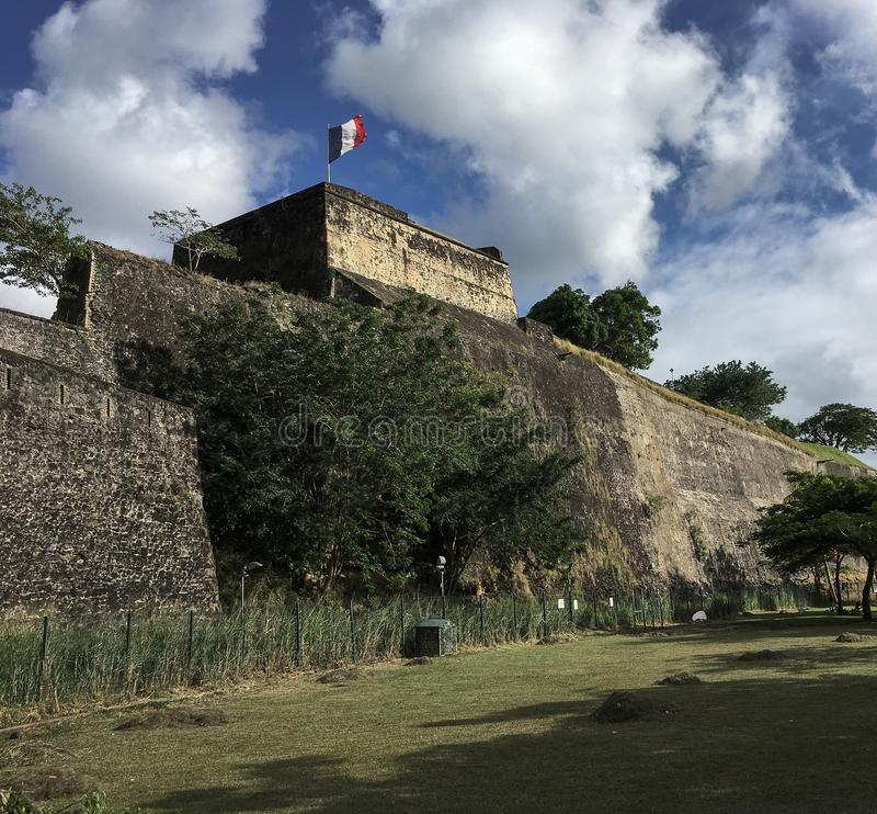 Fort Saint Louis in Fort-de-France, Martinique stock image
