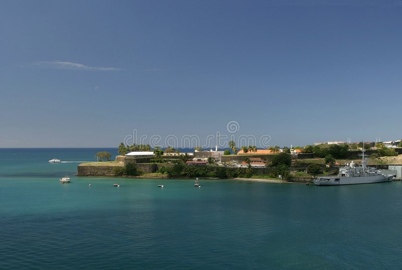 Fort Saint Louis, Martinique royalty free stock photography