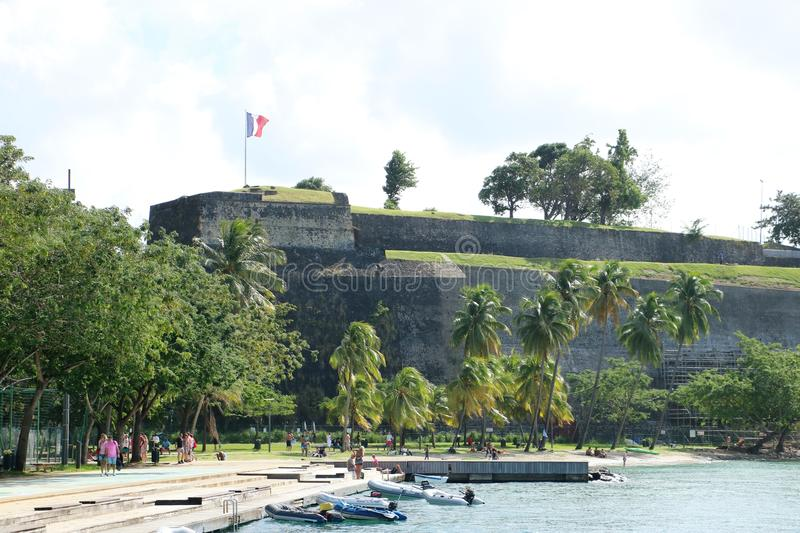 Fort Saint Louis Martinique, France royalty free stock photography