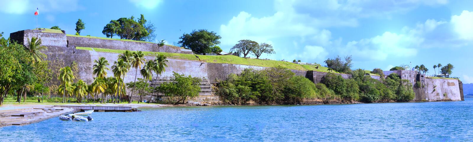 The Fort Saint Louis, Martinique island , French West Indies. royalty free stock photography