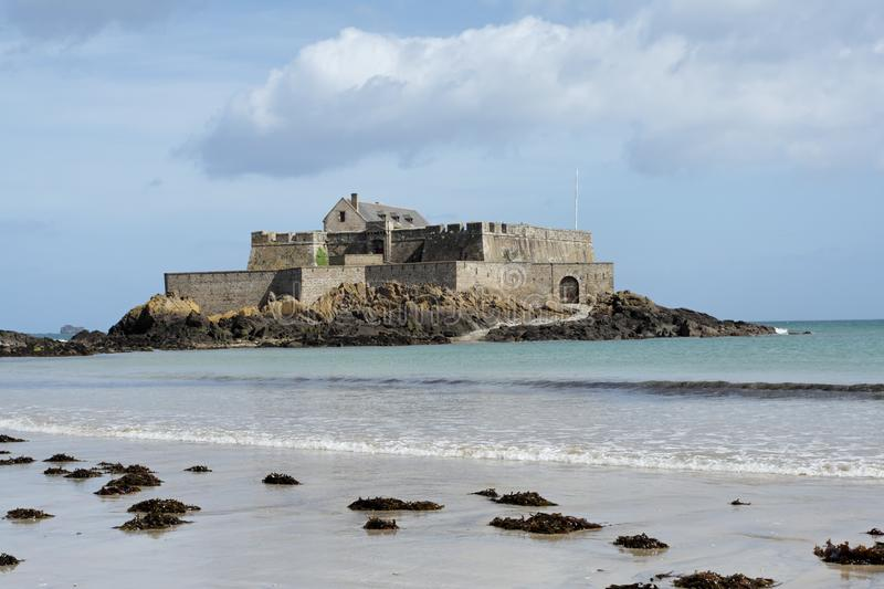 Download Fort in Saint Malo stock image. Image of fortress, gray - 9713679