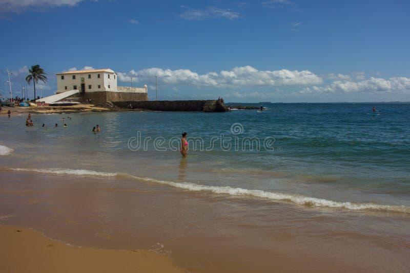 Fort Salvador Bahia, Brasilien, Reise stockfoto