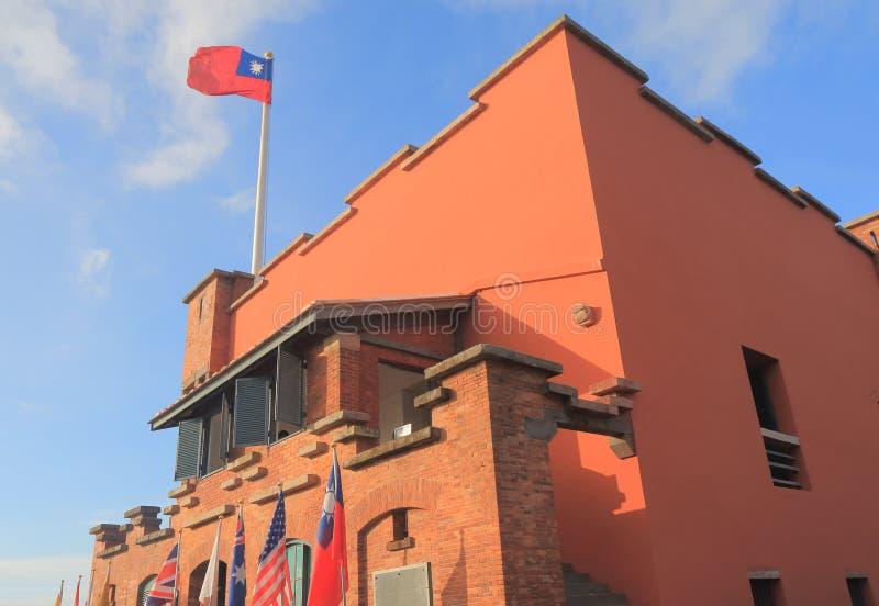 Fort San Domingo Tamusi Taipei Taiwan. Fort San Domingo historical architecture in Tamusi Taipei Taiwan stock images