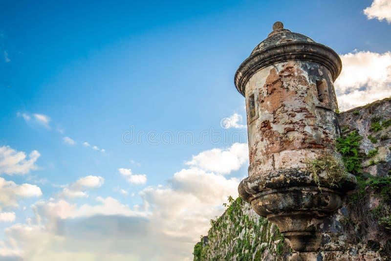 Fort San Felipe Del Morro à San Juan, Puerto Rico au lever de soleil photo stock