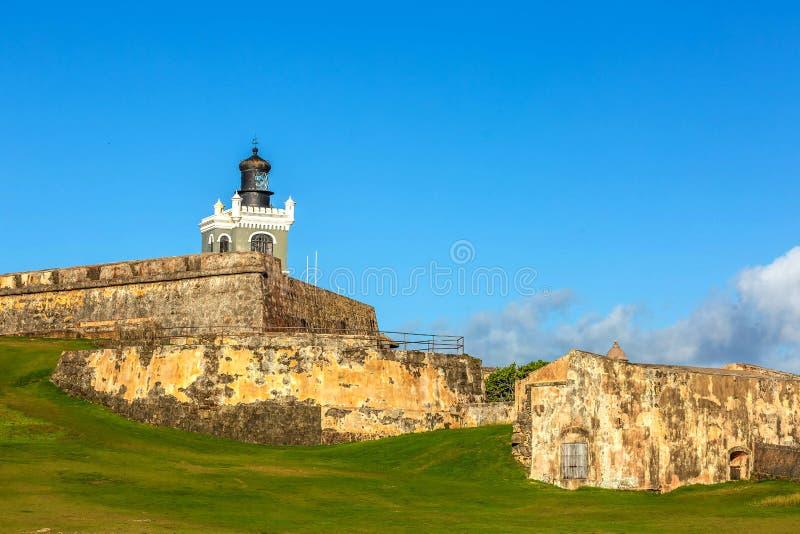 Fort San Felipe Del Morro à San Juan, Puerto Rico au lever de soleil images libres de droits