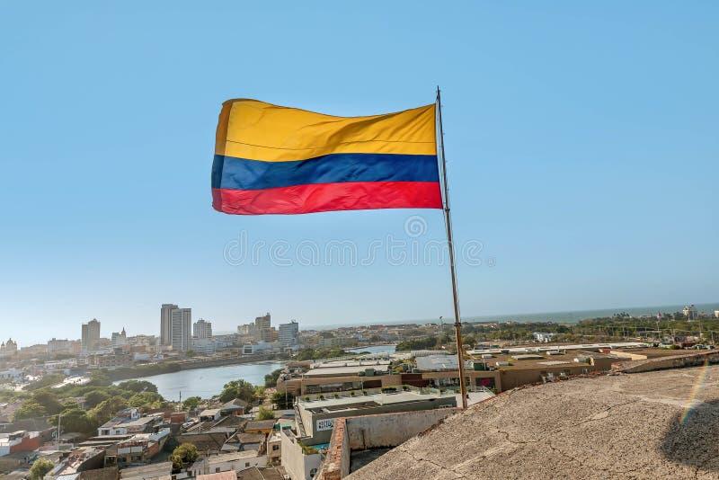 Fort San Felipe i den gamla staden Cartagena, Colombia arkivbilder