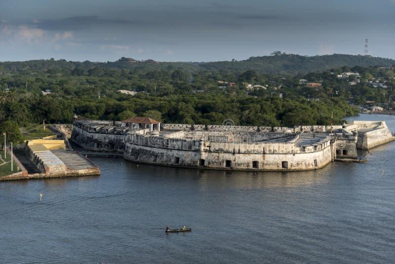 Fort San Fernando de Bocahica, Carthagène, Colombie photo libre de droits