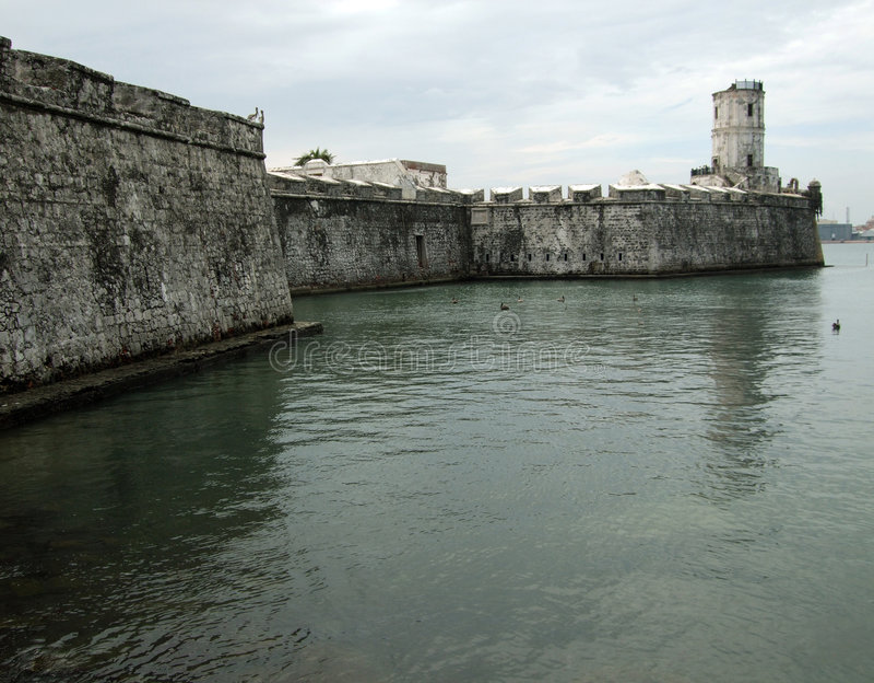 Fort San Juan de Ulua-Mexique photo stock