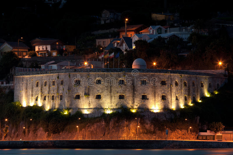 Download Fort of San Martin stock image. Image of village, santona - 20059437