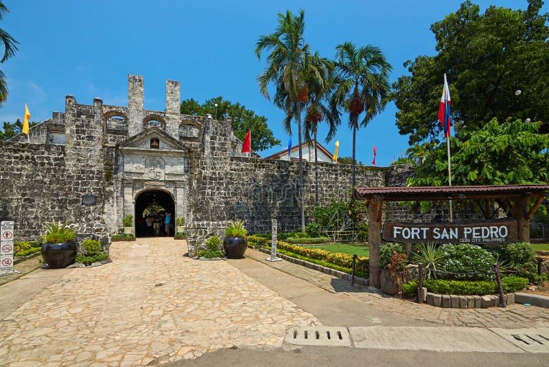 Fort San Pedro w Cebu mieście, Filipiny obraz royalty free