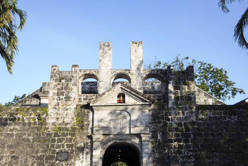 Fort San Pedro w Ceby mieście, Filipiny, wejściowy widok Fortu San Pedro wejściowa brama zdjęcie royalty free