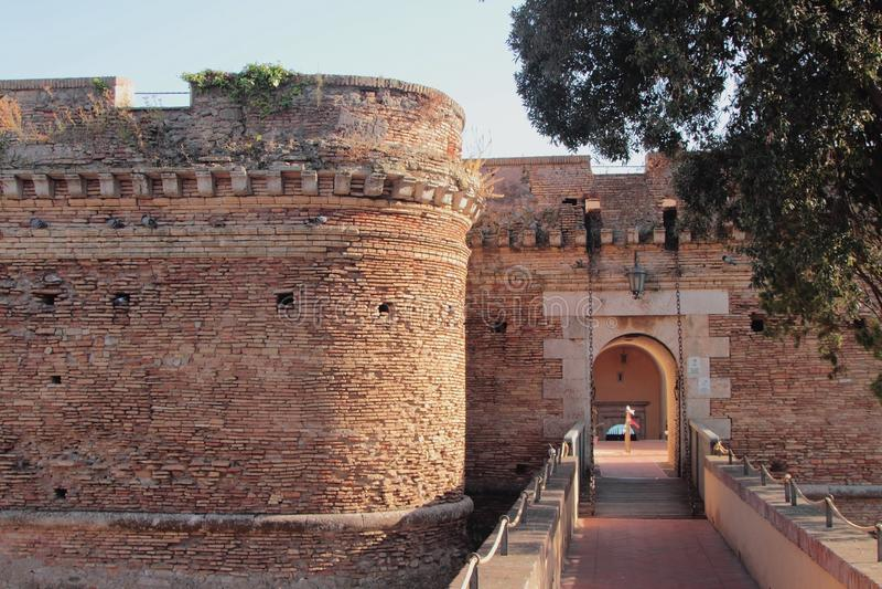 Fort Sangallo. Nettuno, Lazio, Italy. Fort Sangallo in Nettuno, Lazio, Italy; 2019-09-17 royalty free stock photos