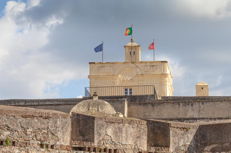 Fort of Santa Luzia, Elvas, Portalegre, Portugal. `Forte de Santa Luzia` which is outside and S.E. of the city and the Nossa Senhora da Graça Fort, also royalty free stock photos