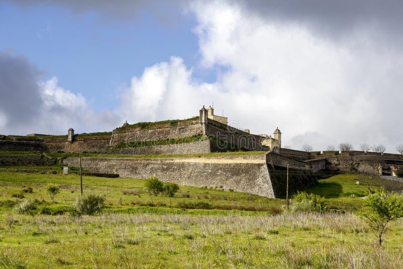 Fort of Santa Luzia in Elvas royalty free stock photo