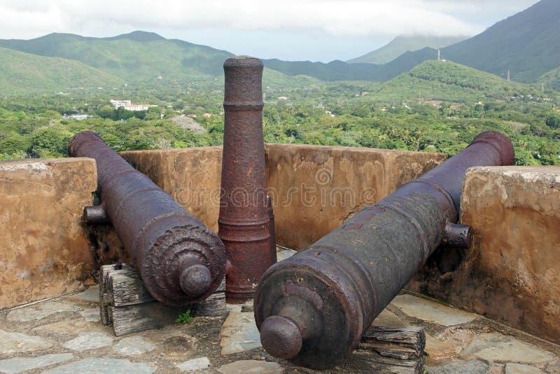 Fort Santa Rosa, los angeles Asuncion, Isla Margarita, Wenezuela fotografia stock