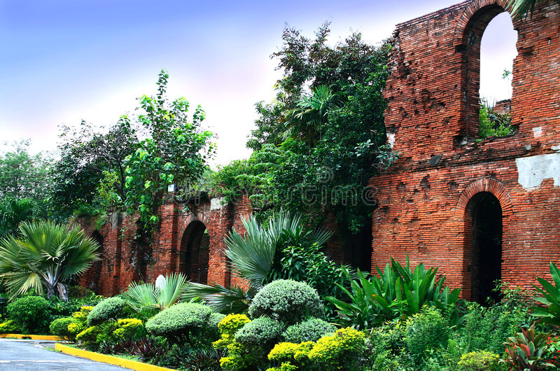 Fort santiago. Ruins of historic fort santiago, manila, philippines stock photography