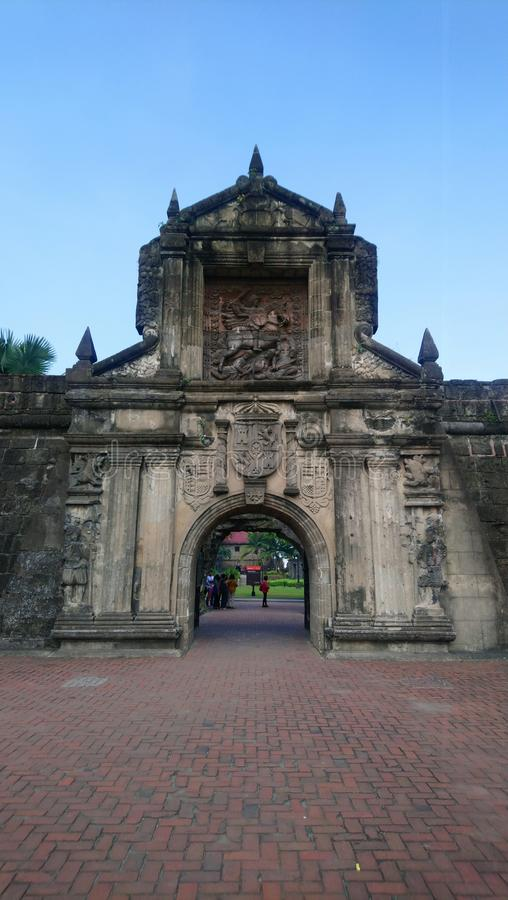 Fort Santiago Instramorus Manila Philippines Spanish Heritage history museum colonial royalty free stock photos