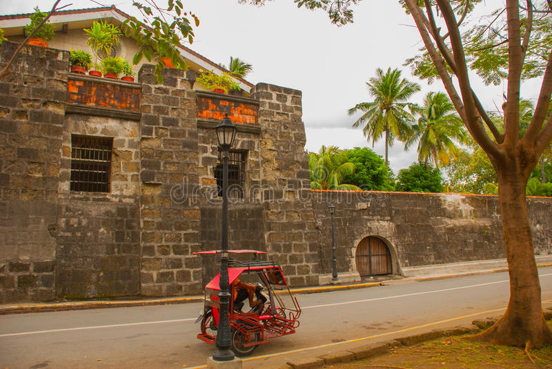 Fort Santiago in Intramuros, stad van Manilla, Filippijnen stock afbeeldingen