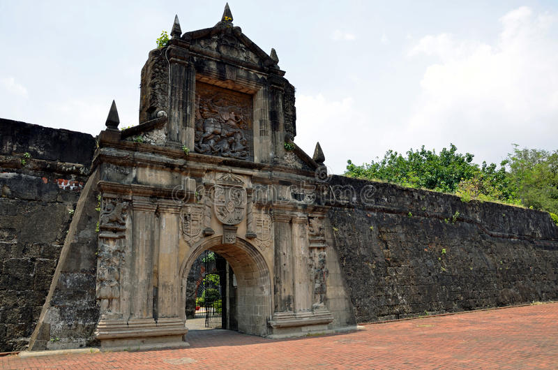 Fort Santiago. Main gate of Fort Santiago in Manila,Philippines royalty free stock photography