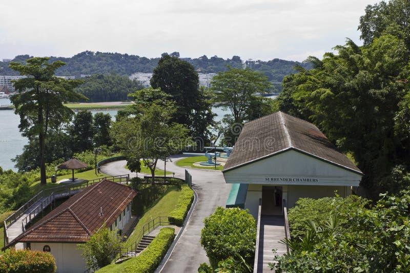 Fort Siloso op Eiland Sentosa royalty-vrije stock fotografie