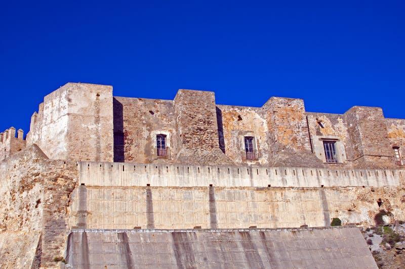 fort spain tarifa royaltyfri fotografi