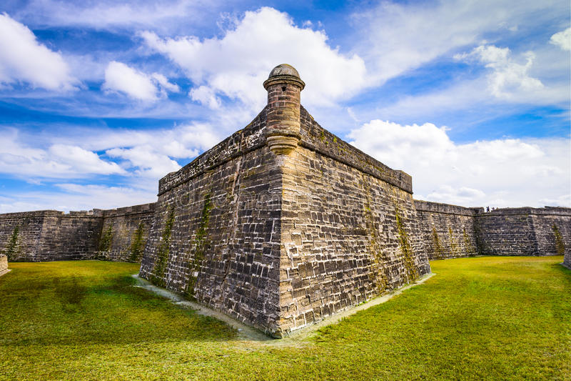 Fort in St. Augustine stock image