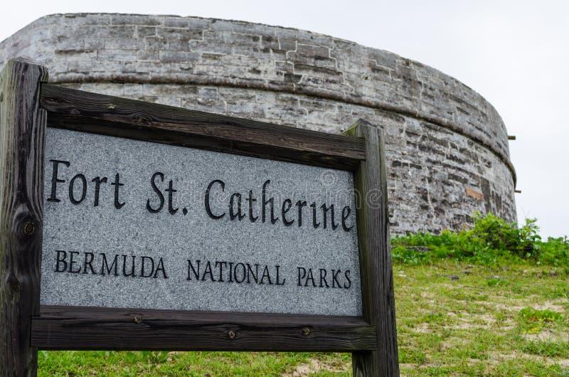 Fort St Catherine, St George Eiland, de Bermudas stock fotografie