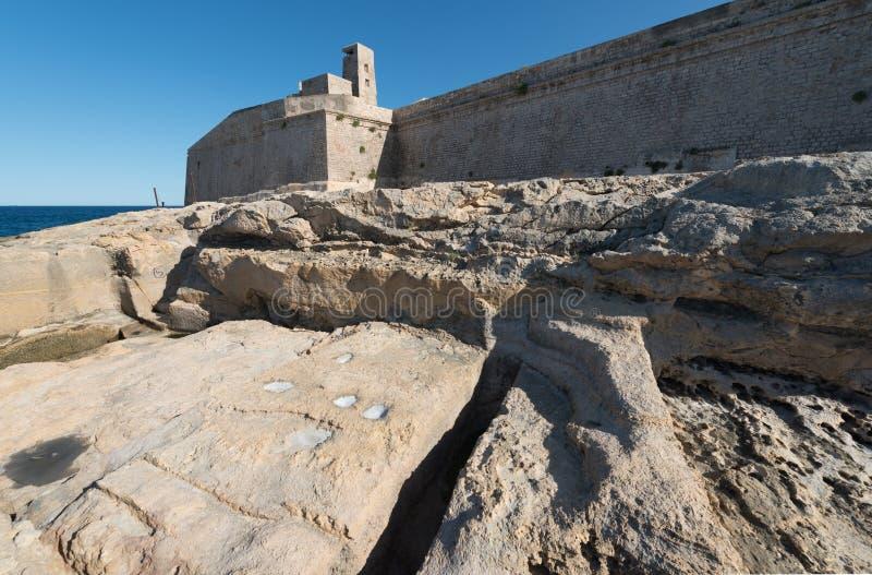 Fort St Elmo i Valletta Malta arkivfoto