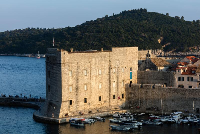 Fort St John w Dubrovnik, Chorwacja, obrazy royalty free