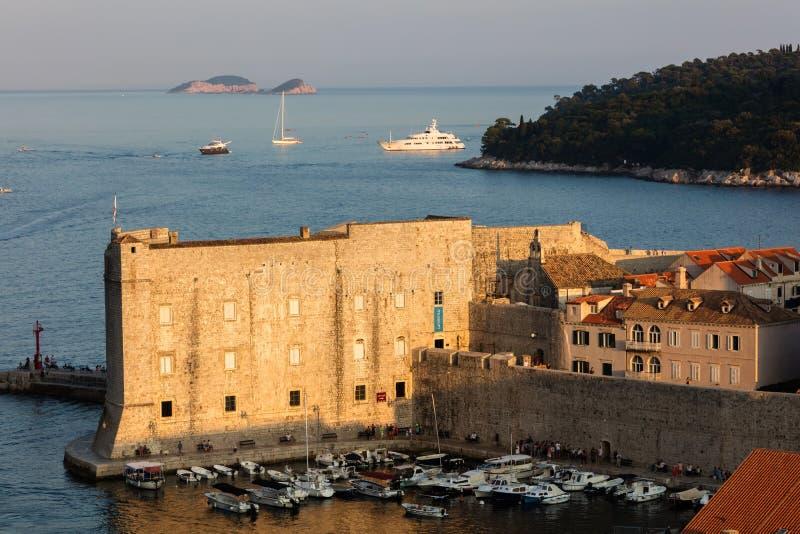 Fort St John w Dubrovnik, Chorwacja, obraz stock