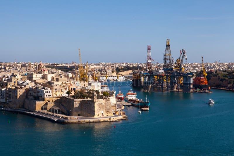 Fort St Michael, Grote Haven, Malta royalty-vrije stock foto
